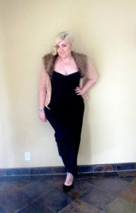 black maxi: forever 21 fur collar sweater: forever 21 shoes: asos bracelet: asos ear cuff: asos tiny heart necklace: asos