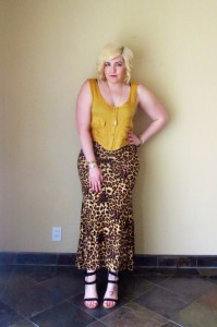 I love the mix of gold, mustard, and leopard.