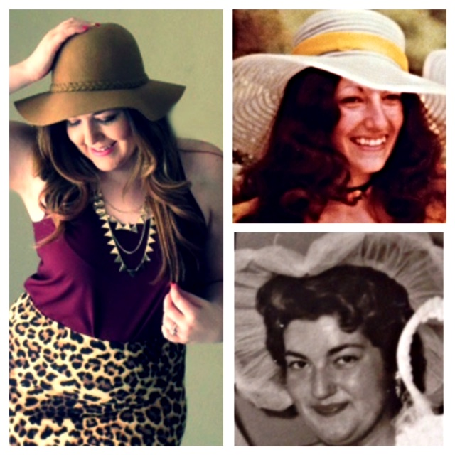 Three generations of hat loving ladies.