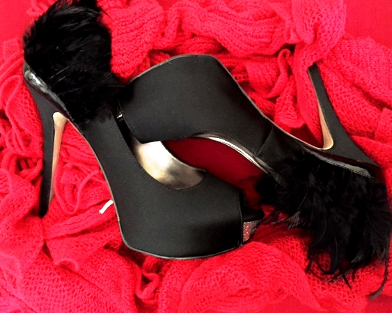 Satin Feather Shoes: Enzo Angiolini